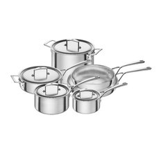 Aurora 5-Ply Stainless Steel 10 Piece Cookware Set