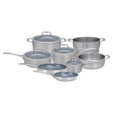 Spirit 3-ply 12 Piece Stainless Steel Ceramic Nonstick Cookware Set