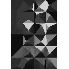 'Greys' Abstract Graphic Art on Wrapped Canvas