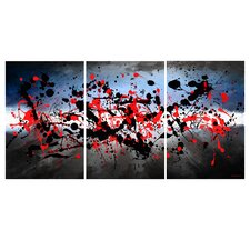 'Beautiful Mind' Abstract 3 Piece Painting Print on Wrapped Canvas Set