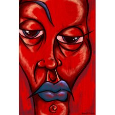'Blue Lips' Painting Print on Wrapped Canvas