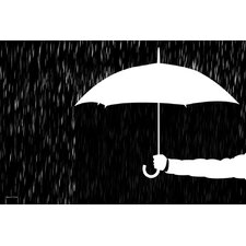 'Covered' Umbrella Graphic Art on Wrapped Canvas