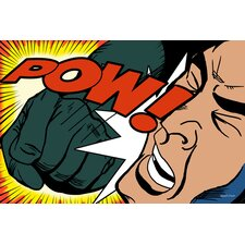 'POW' by Roy Lichtenstein Graphic Art on Wrapped Canvas