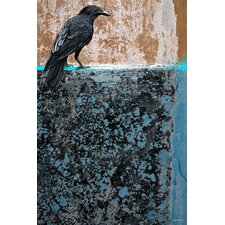 'Crow' Bird Drawing Graphic Art on Wrapped Canvas