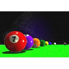'Billiard Balls' Play Pool Painting Print on Wrapped Canvas