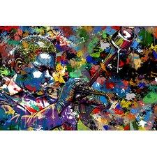 """Jazz Musician"" Graphic Art on Canvas"
