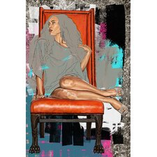 On Her Throne Painting Print on Canvas