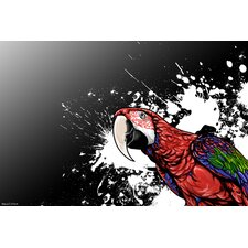 'Tropical Bird' Graphic Art on Wrapped Canvas