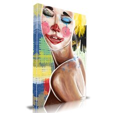 'Tears of a Clown' Graffiti Painting Print on Wrapped Canvas