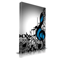 Music Notes Graphic Art on Canvas