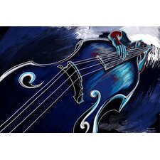 Bass Player Graphic Art on Canvas