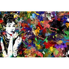 Audrey Hepburn Graphic Art on Wrapped Canvas