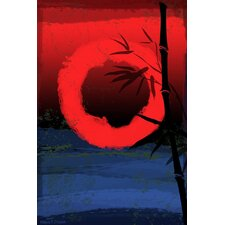 'Osaka' Asian Painting Print on Wrapped Canvas