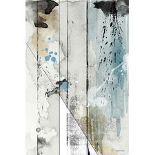 'Faded Colors' Graphic Art on Wrapped Canvas