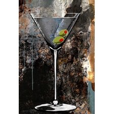 'Martini Glass' Bar Painting Print on Wrapped Canvas