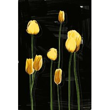 'Yellow Tulips' Flower Graphic Art on Wrapped Canvas