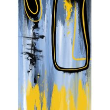 Abstract 'Ordered Strokes' Painting Print on Wrapped Canvas