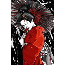 'Geisha' Asian Graphic Art on Wrapped Canvas
