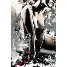 Lady Graphic Art on Canvas