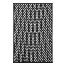 Arabian Nights Black Indoor/Outdoor Area Rug