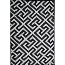 Picket Fence Black/White Area Rug