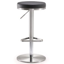 Fano Adjustable Height Swivel Bar Stool with Cushion