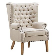 Abe Linen Wing Arm Chair