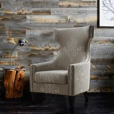 Gramercy Embroidered Wing Arm Chair