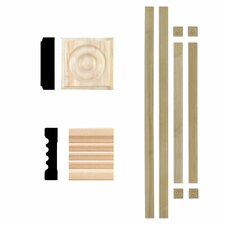 3/4 in. x 3 in. Hardwood Fluted Window Trim Casing Set Moulding