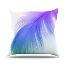 Feather Color Outdoor Throw Pillow