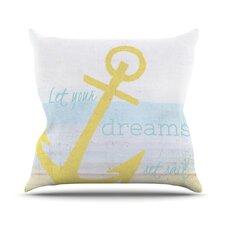 Let Your Dreams Set Sail by Alison Coxon Throw Pillow