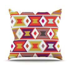 Aztec Diamonds Outdoor Throw Pillow
