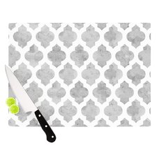 Gray Moroccan by Amanda Lane Cutting Board