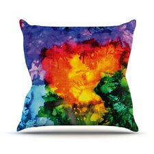 Karma by Claire Day Rainbow Paint Throw Pillow