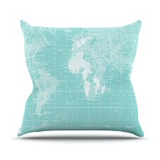 Welcome to my World by Catherine Holcombe Cotton Throw Pillow