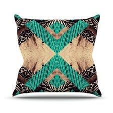 Woven Paisley Outdoor Throw Pillow