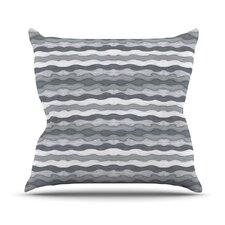 51 Shades of Gray Outdoor Throw Pillow