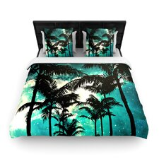 """""""Palm Trees and Stars"""" Woven Comforter Duvet Cover"""