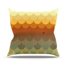 Half Circle Waves Color Outdoor Throw Pillow