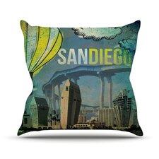 San Diego Outdoor Throw Pillow