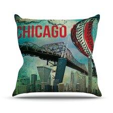 Chicago Outdoor Throw Pillow