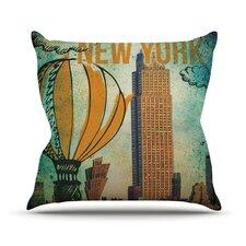 New York Outdoor Throw Pillow