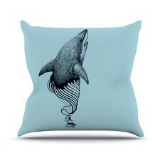 Shark Record II by Graham Curran Throw Pillow