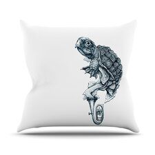 Turtle Tuba by Graham Curran Throw Pillow