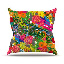 Psychedelic Garden Throw Pillow
