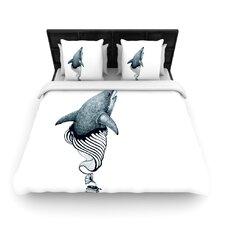 """""""Shark Record"""" Woven Comforter Duvet Cover"""