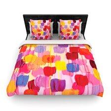 """Dotty in Pink"" Woven Comforter Duvet Cover"