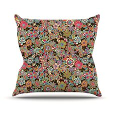 My Butterflies and Flowers by Julia Grifol Rainbow Floral Throw Pillow
