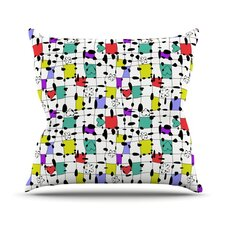 My Happy Squares by Julia Grifol Throw Pillow