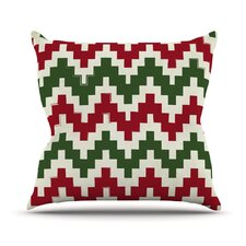 Christmas Gram Chevron Throw Pillow